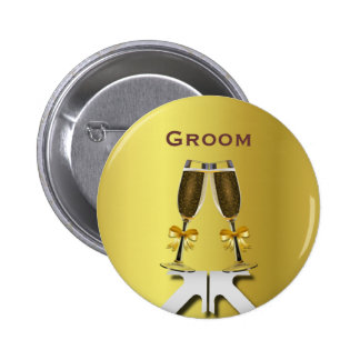 Champagne Toast Gay Handfasting Groom Pin