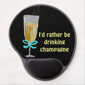 Champagne Toast Gel Mouse Pad