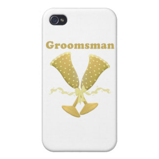 Champagne Toast Groomsman Gift Cover For iPhone 4