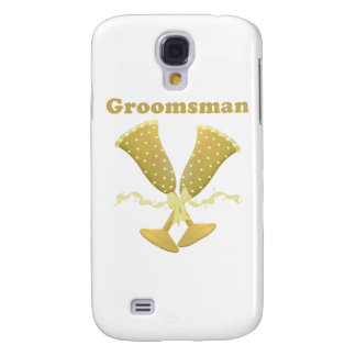 Champagne Toast Groomsman Gift Galaxy S4 Case