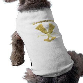 Champagne Toast Groomsman T-shirt Sleeveless Dog Shirt