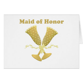 Champagne Toast Maid of Honor Gift Cards