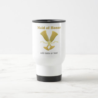 Champagne Toast Maid of Honour Gift Stainless Steel Travel Mug
