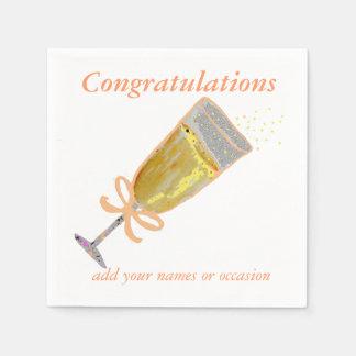 Champagne Toast Peach Paper Napkin