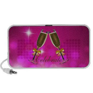 Champagne Toast Pink Bokeh Speakers