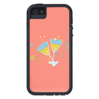Champagne Toast. Retro Birthday Party Pink Vintage Case For iPhone 5