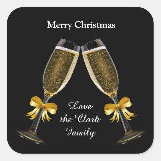 Champagne Toast Square Sticker