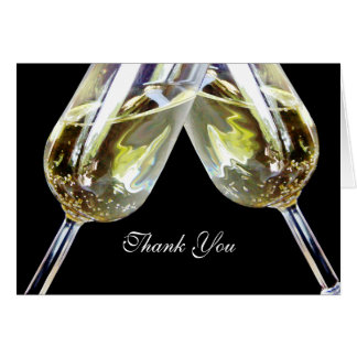 Champagne Toast/ Thank You Note Card