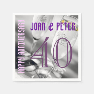 Champagne toast wedding anniversary disposable napkins