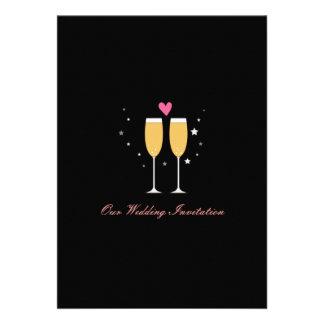 Champagne Toast Wedding Invitation