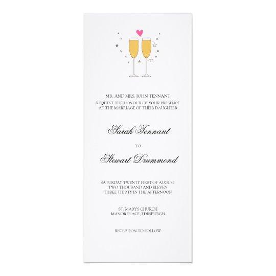 Champagne Toast Wedding Invitation - slim
