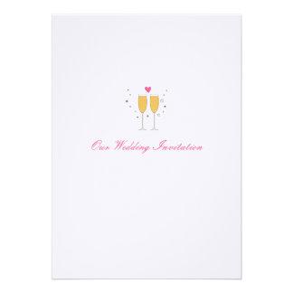 Champagne Toast Wedding Invitation - white