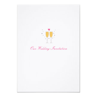Champagne Toast Wedding Invitation - white