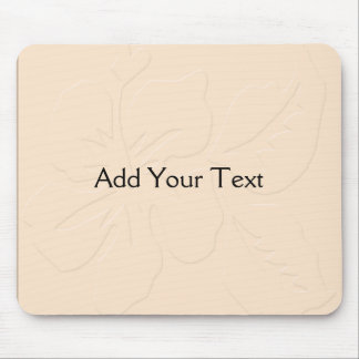 Champagne Tone on Tone Hibiscus Mouse Pad