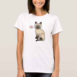 Champagne Tonkinese Cat Love T-Shirt