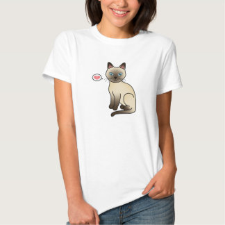 Champagne Tonkinese Cat Love Tee Shirts