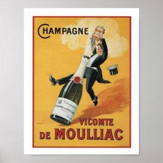 Champagne Viconte De Mouillac Poster