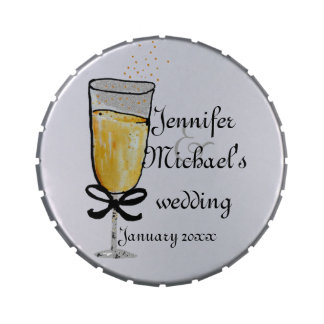 Champagne Wedding Toast Candy Tins