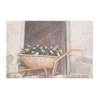 Champagne Wheelbarrow 1985 Canvas Print