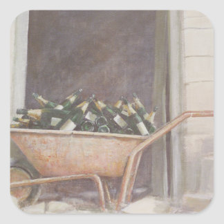 Champagne Wheelbarrow 1985 Square Sticker