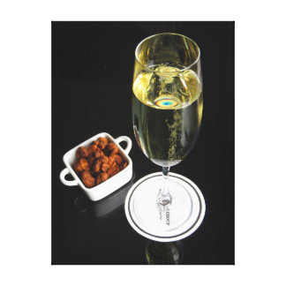 Champagne with Cashews Canvas Print