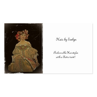 Champagne Woman with Magazine Pack Of Standard Business Cards