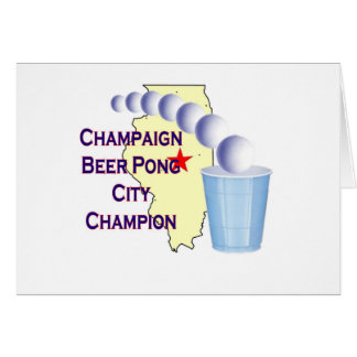 Champaign Beer Pong Champion Card