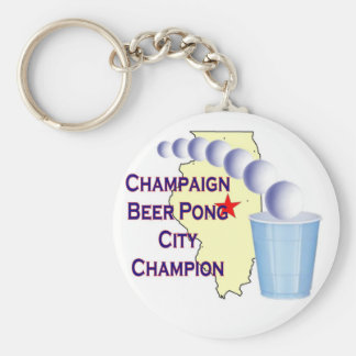 Champaign Beer Pong Champion Keychain