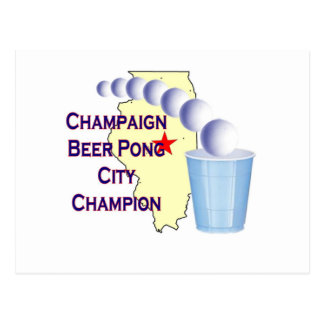 Champaign Beer Pong Champion Postcard