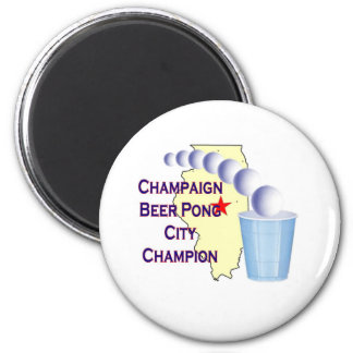 Champaign Beer Pong Champion Refrigerator Magnet