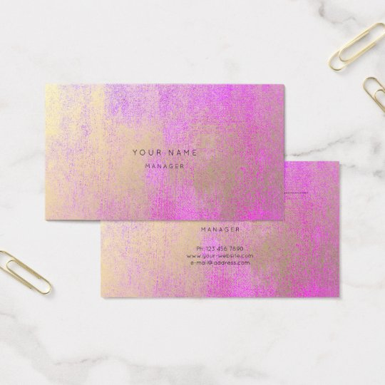 Champaign Gold Bright Pink Rose Appointment Card