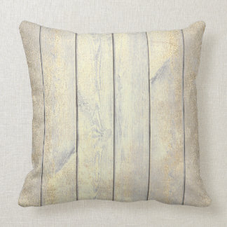 Champaign Gold Gray Metallic Wood Cottage Home Cushion