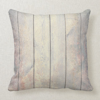 Champaign Gold Gray Pink Rose Wood Cottage Home Cushion