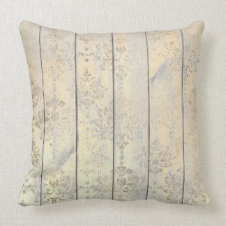 Champaign Golden Damask Metallic Wood Cottage Home Cushion