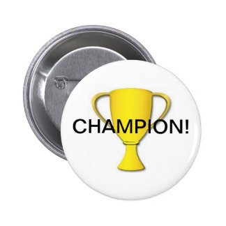 Champion! 6 Cm Round Badge