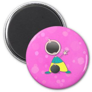Champion Baby Bowler 6 Cm Round Magnet