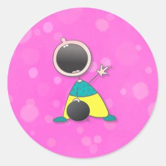 Champion Baby Bowler Round Sticker