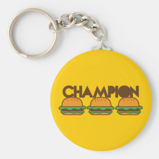 CHAMPION BURGERS yum! Basic Round Button Key Ring
