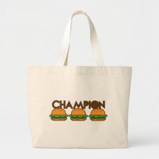CHAMPION BURGERS yum! Jumbo Tote Bag