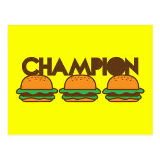 CHAMPION BURGERS yum! Postcard