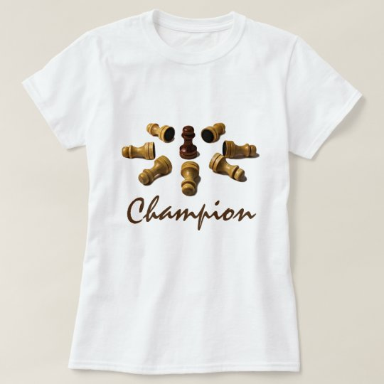 Champion chess pawns funny customisable T-Shirt