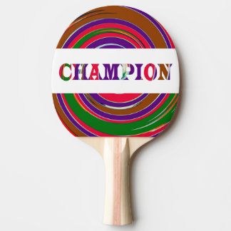 CHAMPION Colorful Whirlwind Waves graphics Ping Pong Paddle