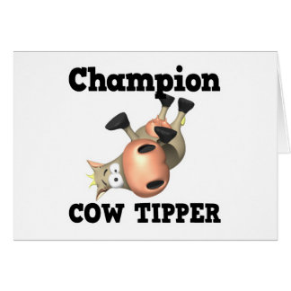 Champion Cow Tipper Greeting Cards