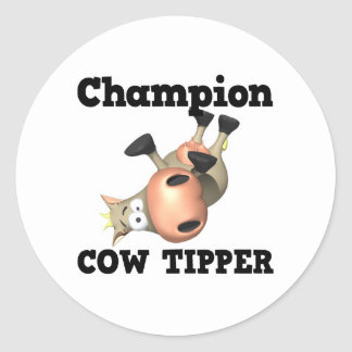 Champion Cow Tipper Stickers