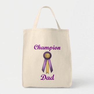 Champion Dad (Rosette) Canvas Bag