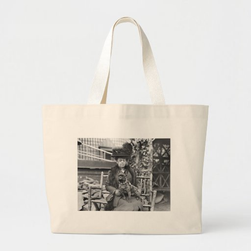 Champion French Bulldog, 1920s Jumbo Tote Bag