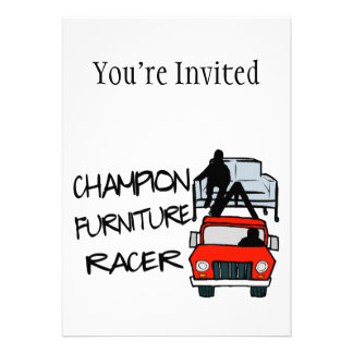 Champion Furniture Racer Personalized Announcement
