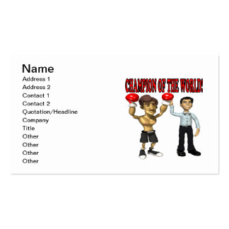 Champion Of The World Pack Of Standard Business Cards