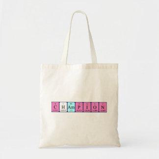 Champion periodic table name tote bag