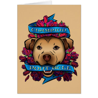 Champion Poot Bull Greeting Card